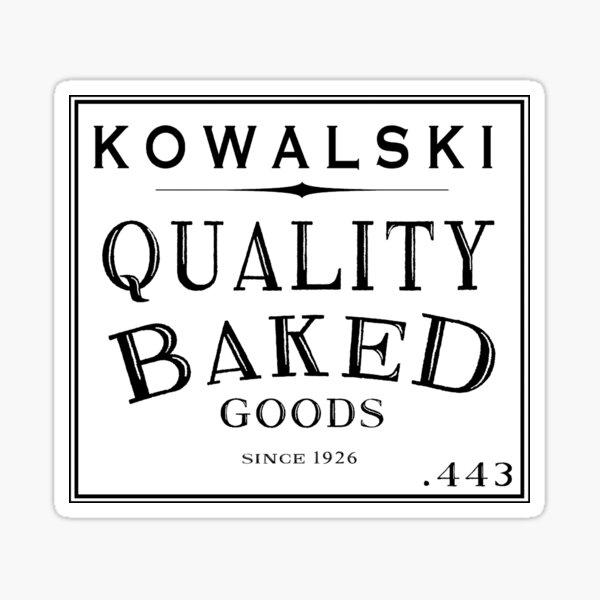 Kowalski Productos horneados Pegatina