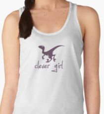Clever Girl Dinosaur Velociraptor Women's Tank Top