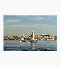 Sailing in Lisbon Portugal Photographic Print