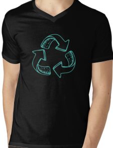 Recycle Green Mens V-Neck T-Shirt