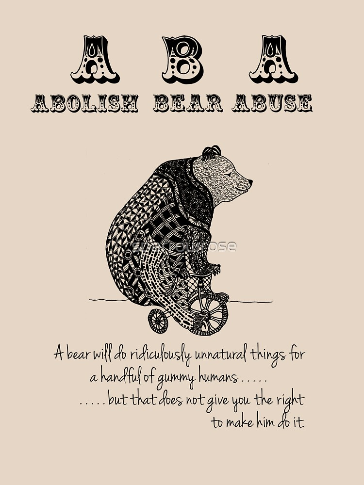 ABA - Circus Bear - Light Background by sparrowrose