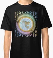 Flat Earth Designs - Flat Earth Map Azimuthal Equidistant Projection Classic T-Shirt