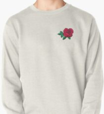 Embroidered Rose Pullover