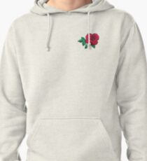 Embroidered Rose Pullover Hoodie