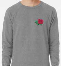 Embroidered Rose Lightweight Sweatshirt