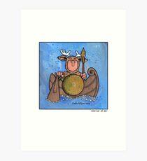 Warrior at sea Art Print