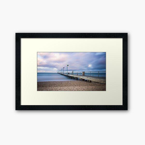 Sunrise at Frankston Pier Framed Art Print