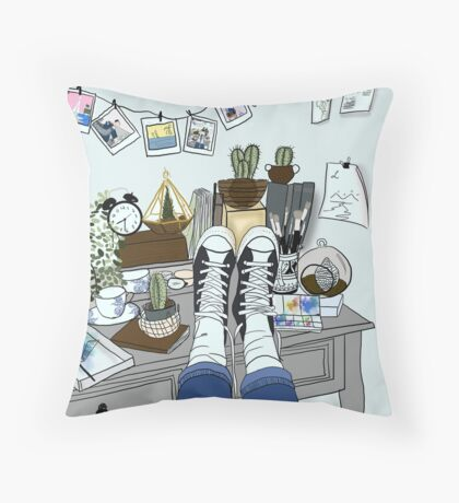 DESK Throw Pillow