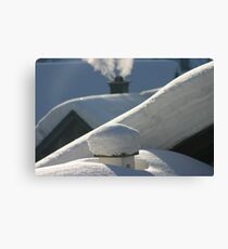 snow everywhere Canvas Print
