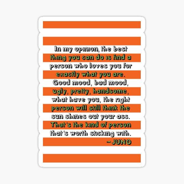 Juno Love Quote Sticker