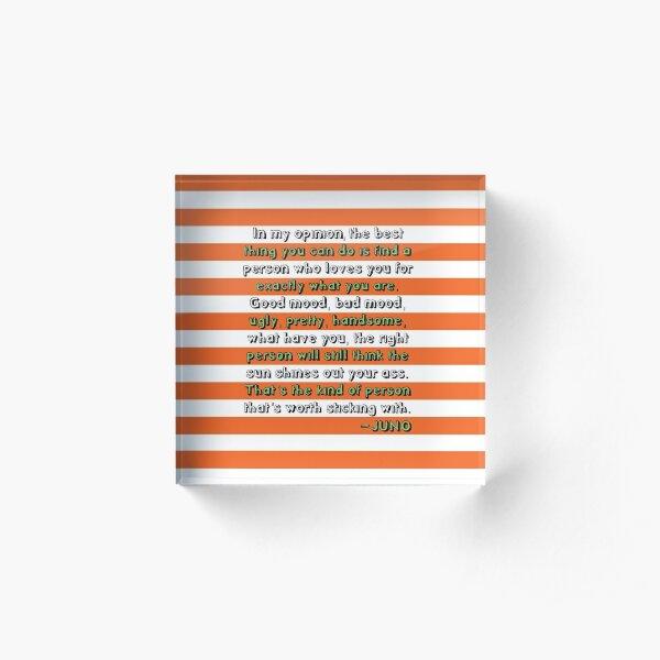 Juno Love Quote Acrylic Block