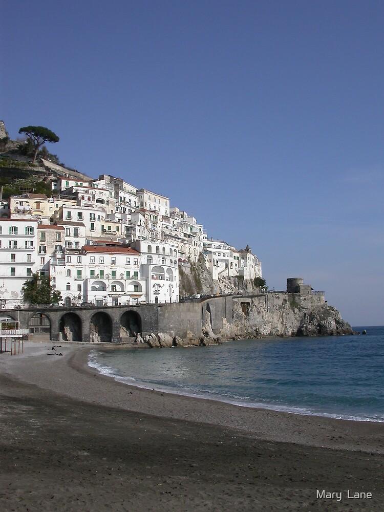 Amalfi Beach by Mary  Lane