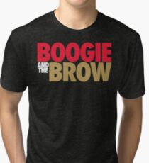 Boogie And The Brow (Red/White/Gold) Tri-blend T-Shirt