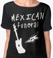 Mexican funeral Dirk Gently band shirt design  Chiffon Top
