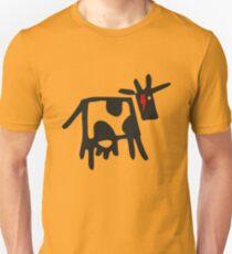 DAVID COWIE (DAVID BOWIE COW WITH ZIGGY LIGHTNING FLASH) Unisex T-Shirt