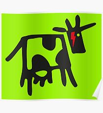 DAVID COWIE (DAVID BOWIE COW WITH ZIGGY LIGHTNING FLASH) Poster