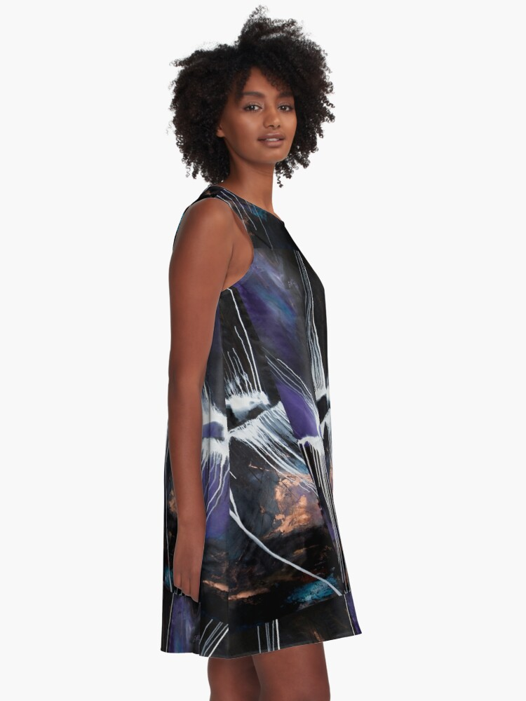 Alternate view of Protoplanet Theia A-Line Dress