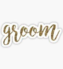 Groom Glitter Gold | Weddings Sticker