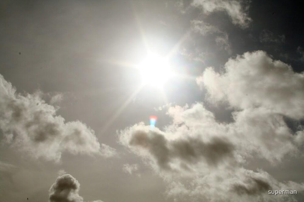 black n white SUN by superman