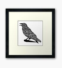 Quoth the Raven Framed Print
