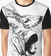 Beauty and Deer Graphic T-Shirt