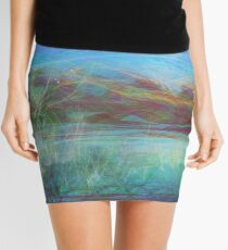 hills and winter birch Mini Skirt
