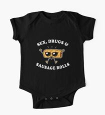 Sex, Drugs And Sausage Rolls One Piece - Short Sleeve