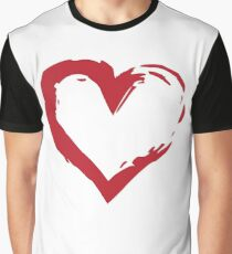 Heart Shape Symbol Graphic T-Shirt