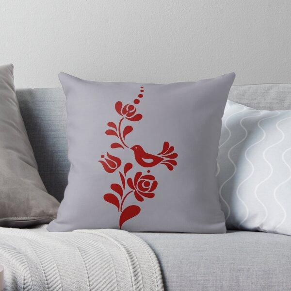 Bird and floral motifs  Throw Pillow