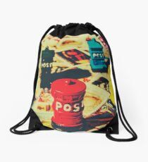 Postage pop art Drawstring Bag