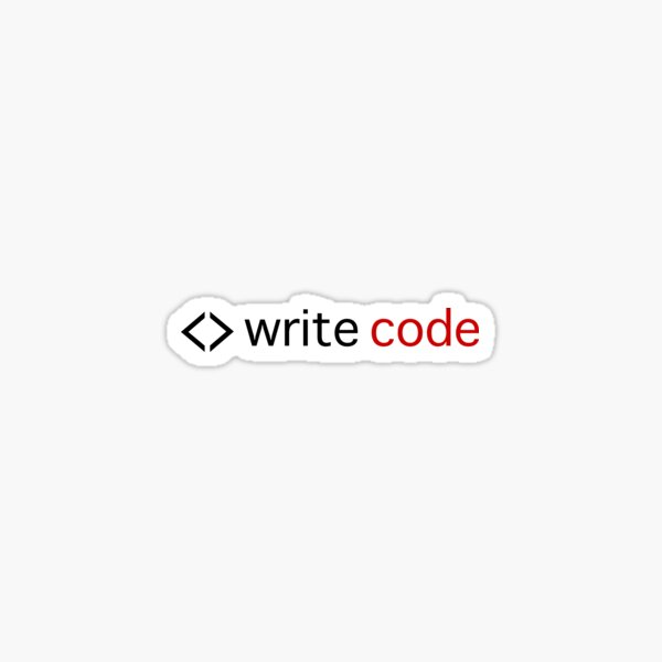 Write code Sticker
