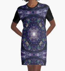 kaleidoscope -winter night sky Graphic T-Shirt Dress
