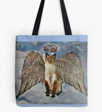 0a37d7e624 Do Cats Have Guardian Angels? Tote Bag