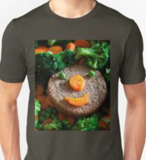 Smiling veggy burger Unisex T-Shirt