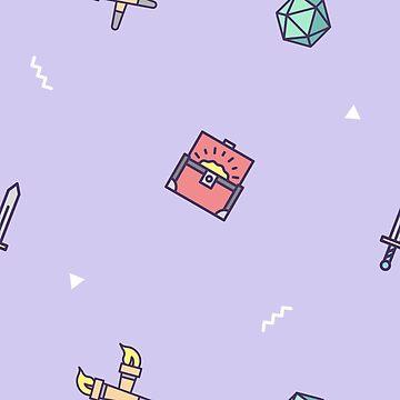 Mini Dungeon Crawler - Purple by laurauroraa