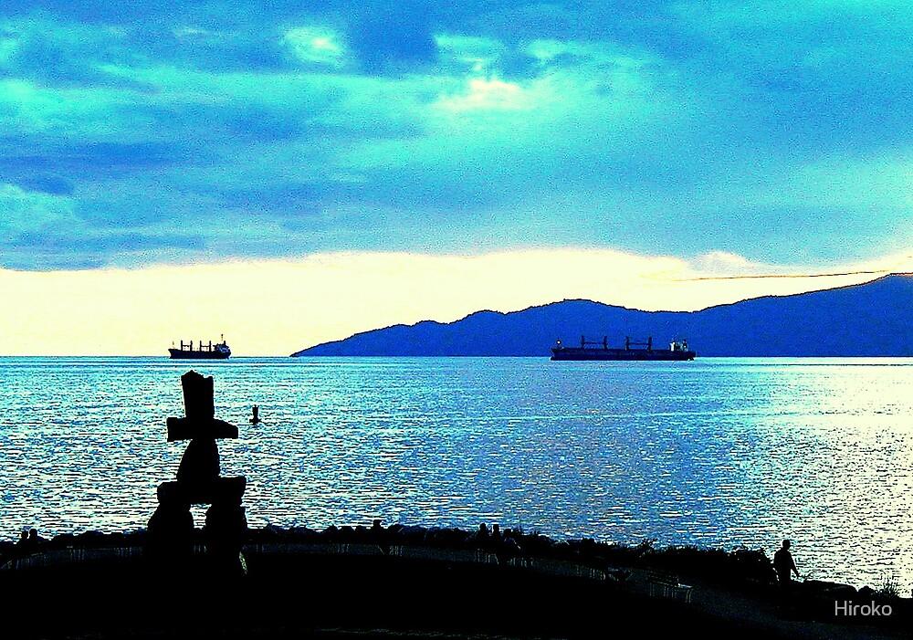 Seawall Ocean View - Vancouver BC, Canada by Hiroko