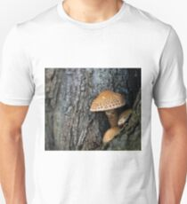 Toadstool in the rainy woods Unisex T-Shirt