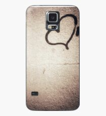 Love heart painted on urban city wall silver gelatin black and white 35mm negative analog film photograph Case/Skin for Samsung Galaxy