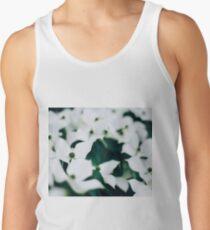 White elegant floral Tank Top
