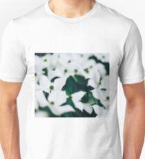 White elegant floral Unisex T-Shirt