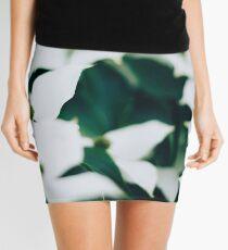 White elegant floral Mini Skirt