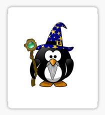 The Penguin Wizard Sticker