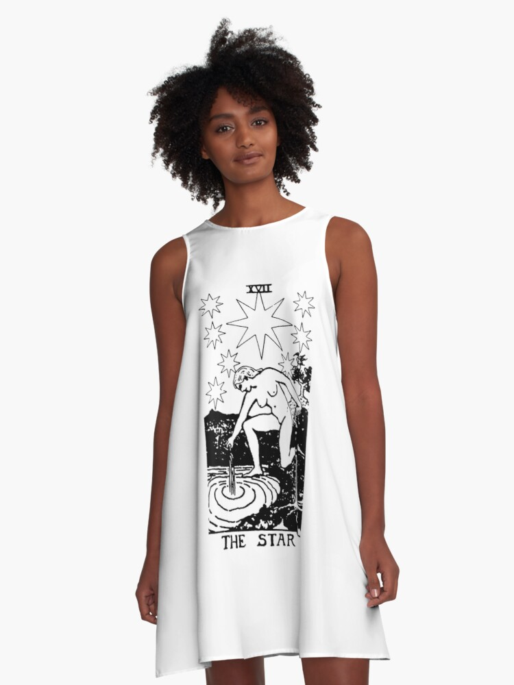 'THE STAR - Tarot Card Design' A-Line Dress by Screaming Yonis