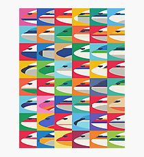 Retro airline nose livery (Pattern Small) Photographic Print