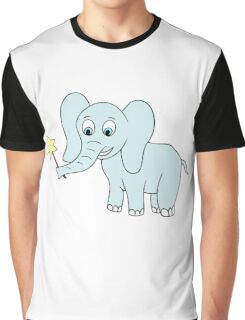 Vector illustration of baby elephant. Isolated cartoon animal Graphic T-Shirt