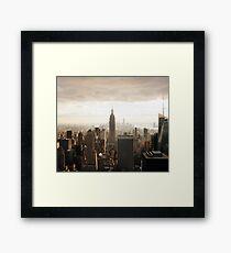 Sepia New York City Framed Print