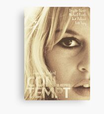 Contempt, movie Fine Art, Brigitte Bardot, Jean-Luc Godard, Fritz Lang, movie poster,  Canvas Print