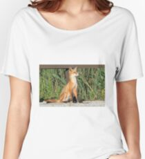 Foxing Around Women's Relaxed Fit T-Shirt