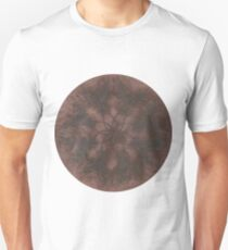 Copper Peacock Feather Mandala  Unisex T-Shirt