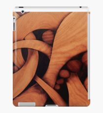 Abstract fantasy marquetry art picture of wood iPad Case/Skin